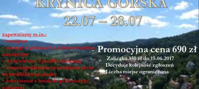 Letni obóz Piłkarski – Odwołany z powodu niskiego zainteresowania.